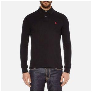 Ralph Lauren Long Sleeve Polo Shirt Black Large